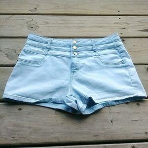 5/$15 Tokyo 10 Blue 3 Button Fly short denim Short